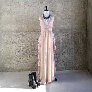 BCBG Max Azria Bare Pink Sleeveless V Neck Suzanne